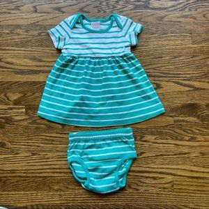 Hanna Andersson Striped Dress w/ Matching Bloomers